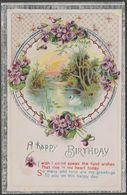 A Happy Birthday, C.1920 - Embossed Greetings Postcard - Birthday