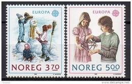 Norvège - 1989 - Yvert N° 976 & 977 **  - Europa - Nuovi