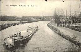 11674304 Marpent La Sambre Et Les Marbreries Frachtkahn Marpent - France