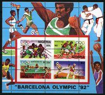 NIGERIA  Olympics Olympic Games Barcelona 1992   SS Perf. With Perforaton ERROR  Rare! - Summer 1992: Barcelona