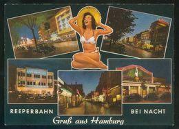 Alemania. *Gruss Aus Hamburg. Reeperbahn Bei Nacht* Nueva. - Otros