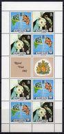 Solomon Islands 1982 12c Royal Visit Sheetlet Of 8 + 2 Labels, MNH, SG 471/2 (B) - Salomoninseln (Salomonen 1978-...)