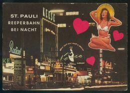 Alemania. Hamburg. *St. Pauli. Reeperbahn Bei Nacht* Circulada 1976. - Otros