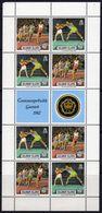 Solomon Islands 1982 25c Commonwealth Games Sheetlet Of 8 + 2 Labels, MNH, SG 473/4 (B) - Salomoninseln (Salomonen 1978-...)