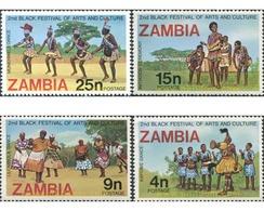 Ref. 286793 * MNH * - ZAMBIA. 1977. 2 FESTIVAL MUNDIAL DE ARTE Y CULTURA DE NIGERIA - Zambia (1965-...)