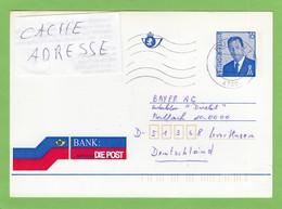 """BANK,DIE POST"".CARTE POSTALE GERMANOPHONE OBLIT. ""EUPEN"". - Entiers Postaux"