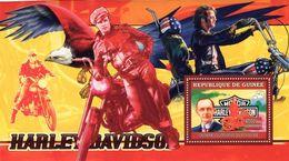 Guinée  -  Harley-Davidson Motorcycles  -  Walter Davidson    -  1v Sheet Neuf/Mint MNH - Motos