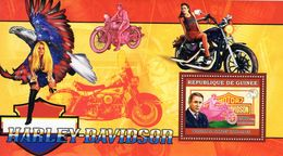 Guinée  -  Harley-Davidson Motorcycles  -  William S.Harley    -  1v Sheet Neuf/Mint MNH - Motos