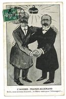 CPA DESSIN NEMO L'ACCORD FRANCO-ALLEMAND LE MAROC RESTE POUR L'ALLEMAGNE Caricature Politique Satirique Illustrateur - Illustratori & Fotografie