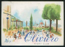 Italia. Firenze. *Oliviero. Night Club* Art: Rossini. Circulada 1959. - Otros