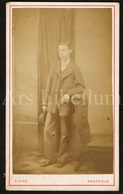 Photo-carte De Visite / CDV / Photographer E. Hide / Sheffield / England / Young Man / Jeune Homme - Photos