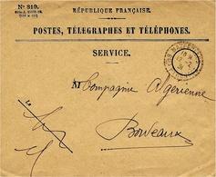 1931- Enveloppe P T T De MAZEROLLES ( Bses Pyrénées ) Cad  Facteur Receveur 1 Cercle Pointillé - Marcophilie (Lettres)