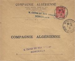 1931- Enveloppe  De MONTORY  ( Bses Pyrénées ) Cad  Facteur Receveur 1 Cercle Pointillé - Marcophilie (Lettres)