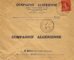 1931- Enveloppe  De  ISSOR  ( Bses Pyrénées ) Cad  Facteur Receveur 1 Cercle Pointillé - Marcophilie (Lettres)