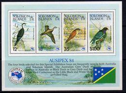Solomon Islands 1984 Ausipex Birds MS, MNH, SG 537 (B) - Islas Salomón (1978-...)