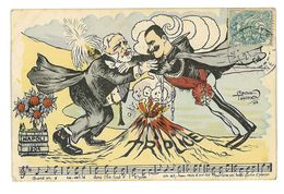 CPA DESSIN RAOUL THOMEN TRIPLICE NAPOLI 1904 ITALIE Caricature Politique Satirique Illustrateur - Autres Illustrateurs