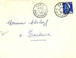 1959- Enveloppe  De CAME ( Basses Pyrénées ) Cad  Facteur Receveur 1 Cercle Pointillé - 1921-1960: Moderne