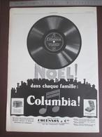 Publicité  1927 Disque Gramophone Columbia Noel Dans Chaque Famille Vinyle + LU Petit Beurre Lefevre Utile  Nantes - Publicités