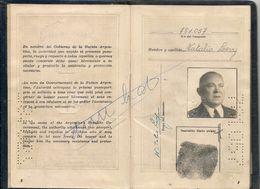 ARGENTINA 1956 PASSPORT- PASSEPORT -multiple VISAS And STAMPS  ISRAEL - POLAND - TURKEY - VENEZUELA -USA - BRASIL- AUSTR - Documentos Históricos