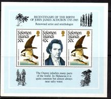 Solomon Islands 1985 JJ Audubon Birds MS, MNH, SG 556 (B) - Salomoninseln (Salomonen 1978-...)