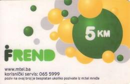 TARJETA TELEFONICA DE BOSNIA Y HERZEGOVINA (PREPAGO 31.05.2010). (549) - Bosnia