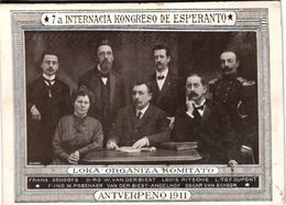 2 CPA  Esperanto Internacia Kongreso De Esperanto  Antverpeno 1911 - Esperanto