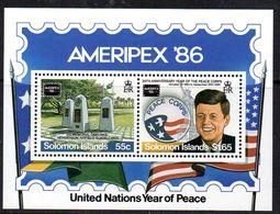 Solomon Islands 1986 Ameripex '86 John F. Kennedy MS, MNH, SG 567 (B) - Islas Salomón (1978-...)