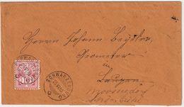 Schweiz, 1883, 10 C. Weisses Papier (Fr. 180.- ) , #a262 - 1882-1906 Wappen, Stehende Helvetia & UPU