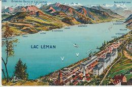 CPA -  LAC LEMAN - OUCHY -CULLY - LUTRY -ST SAPHORIN -VEVEY - MONTREUX -LE BOUVERET - MEILLERIE - LA TOUR RONDE -LUGRIN - VD Vaud