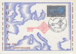 Carte  Maximum  1er  Jour   ANDORRE    EUROPA    1968 - Maximumkarten (MC)