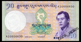 BHUTAN 10 NGULTRUM 2013 Pick 29b Unc - Bhutan