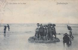 Blankenberghe - Les Plaisirs De La Plage (animée, Bleu, Edit. V G, 1909) - Blankenberge