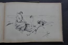 CARNET DE 40 CROQUIS De CHARLES GAVET Vers 1880 / ST JULIEN - GRAND PARQUET FONTAINEBLEAU - PAYSAGES Etc... - Popular Art