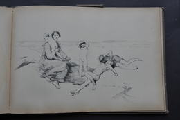 CARNET DE 40 CROQUIS De CHARLES GAVET Vers 1880 / ST JULIEN - GRAND PARQUET FONTAINEBLEAU - PAYSAGES Etc... - Autres