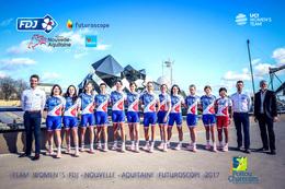 CARTE CYCLISME GROUPE TEAM FDJ FUTUROSCOPE WOMENS 2017 ¡¡ RARE ¡¡ - Cyclisme