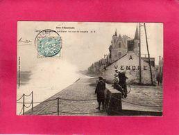 35 Ille Et Vilaine, Parame, La Digue, Un Jour De Tempête, Animée, 1904, (G. F.) - Parame