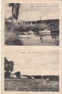 Oret - Rue Du Noir Chien Et L'Oret Traversant Le Village (carte 2 Vues, 1969) - Mettet
