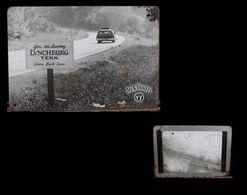 Ancienne Plaque Photographie En Métal Carte Postale Whisky Jack Daniel's Old Advertisement Tin Metal Postcard - Lynchburg