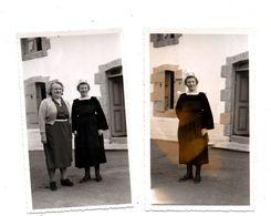 Nevez. Bretonnes. 2 Photos Amateur. 1954. - Névez