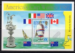 Solomon Islands 1986 America's Cup Yachting Winner MS, MNH, SG 575 (B) - Islas Salomón (1978-...)