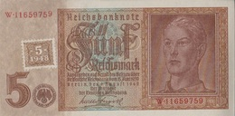 DDR Rosenbg: 333b, Kupon Auf Nr. 179b Bankfrisch 1948 5 DM Auf 5 RM (9167021 - [ 6] 1949-1990 : RDA - Rep. Dem. Tedesca