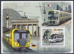 Comores Komoren Block Metros U-Bahnen  ** / MNH - Trains