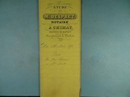 Acte Notarié 1856 Vente Huaux De Baileux à Poucet De Bourlers /13/ - Manuscrits