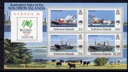 Solomon Islands 1988 Australia Bicentenary Sydpex MS, MNH, SG 630 (B) - Solomon Islands (1978-...)