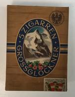 EMPTY  TOBACCO  BOX   GROSSGLOCKNER  5 ZIGARREN - Boites à Tabac Vides