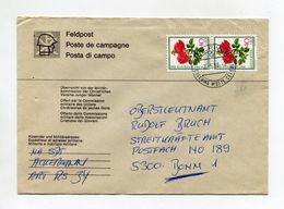 SCHWEIZ UMSCHLAG 1983 FELDPOST CASERMA MONTE CENERI - Sellados