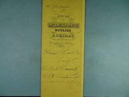 Acte Notarié 1880 Vente De Camby De Baileux à Coulonval De Baileux /14/ - Manuscrits