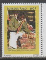 BURKINA FASO, 2016, MNH, ART, CARVING, WOOD SCULPTURES, 1v, SCARCE - Sculpture