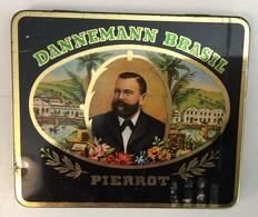 EMPTY  TOBACCO  BOX    TIN     DANNEMANN BRASIL  PIERROT - Schnupftabakdosen (leer)