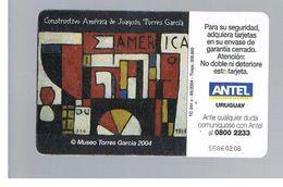 URUGUAY -   2004 PAINTING . TORRES GARCIA    - USED  -  RIF. 10463 - Uruguay
